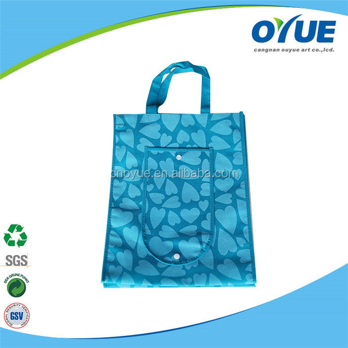 Hot sale non woven promotional cheap folding shopping tote bag