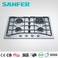 cheap new model 4 burners stainless steel gas hob