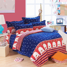 King Bed Made In China Plaid New Design Dots Printed Winter Warm Flannel Bedding Set