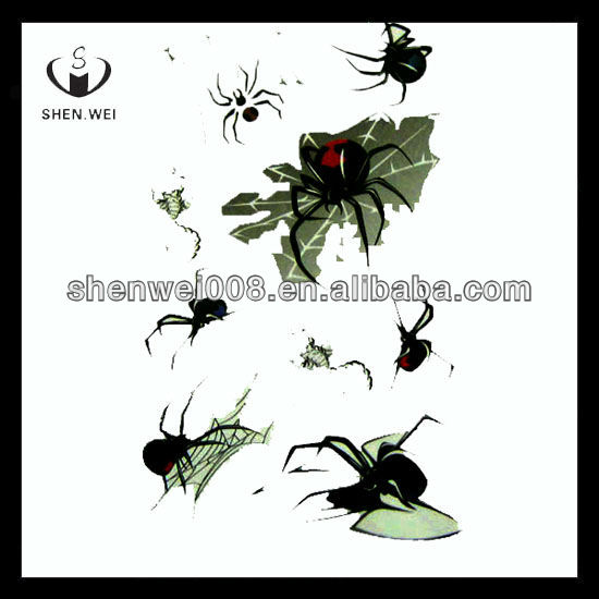 black spider water based indian sticker tattoo products