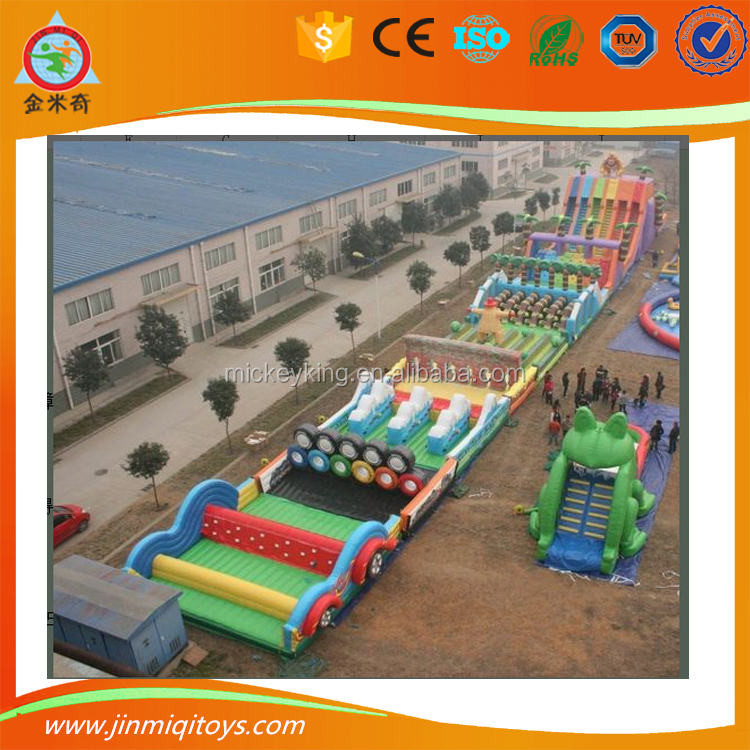 2017 new style Multiple inflatable obstacle game for children