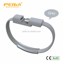 Fashion wearable 8pin USB data charging bracelet cable for iPhone