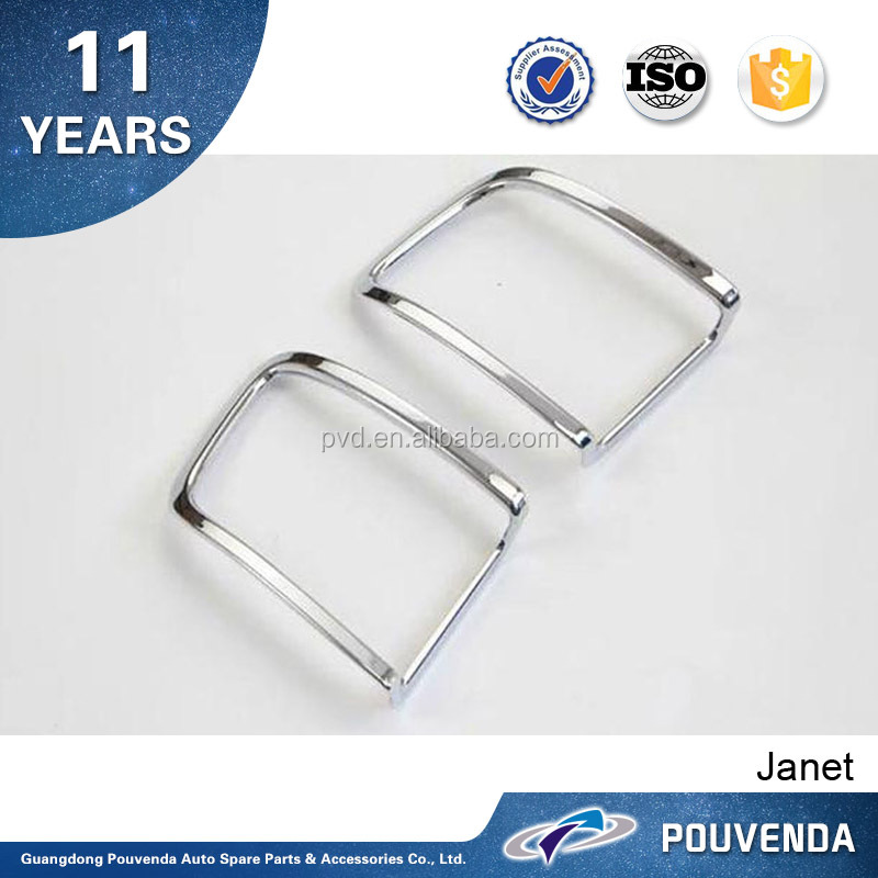 Exterior Accessories Top/High quality for 2016 Toyota Land Cruiser ABS chrome Car rear fog light cover accessories From Pouvenda