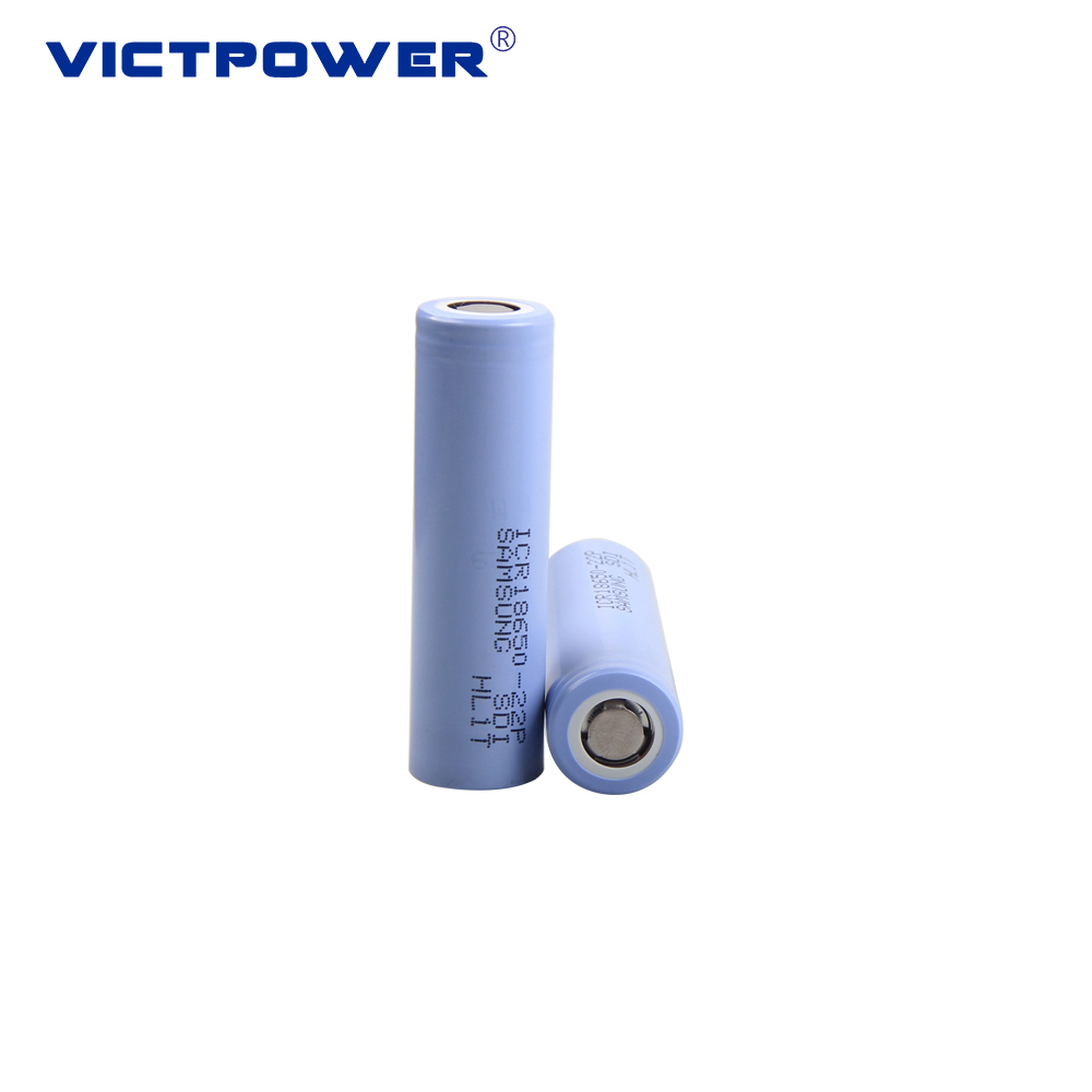 Recharge battery ICR18650-22P 2200mah 3.7v 18650 li-ion battery for LED light and flashlight