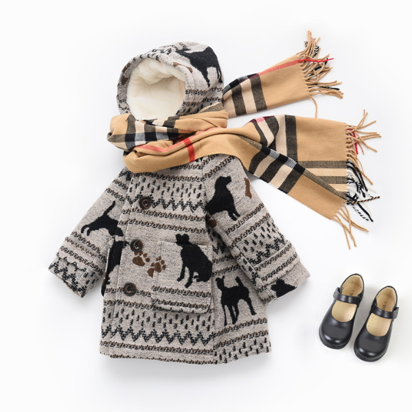 MS68017C fashion Christmas stylish kids coats pictures of winter clothes