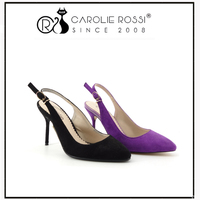 new comer shoes on market ,top moda evening shoes for women purple low heels