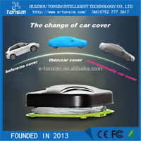 automatic easy operation car cover 15 seconds auto open solar tarpaulin car cover