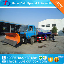 Dongfeng snow removing truck with tanker for Tajikistan