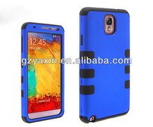 2014 new design combo robot high quality silicon phone case for samsung galaxy note 3