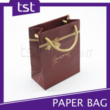 Custom Jewelry Small Paper Bag with Gold Handle