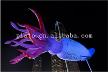 Hot sale !!! giant inflatable hanging led sepia animal model /inflatable lighted cuttle fish for party decoration