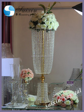 New! wedding decor gold crystal table centerpiece flower stand ZT-209G