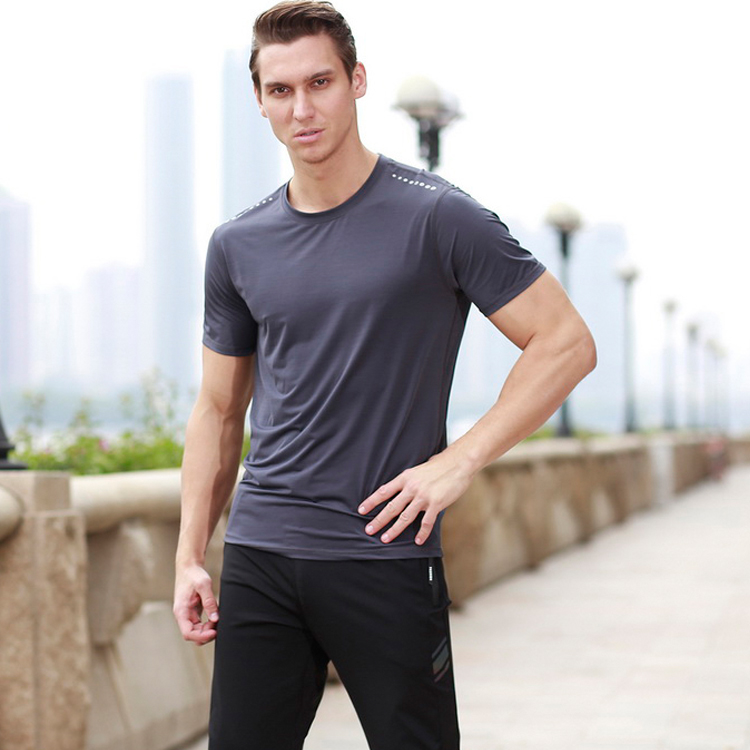 Wholesale gym custom printing slim fit t shirt for <strong>men</strong>