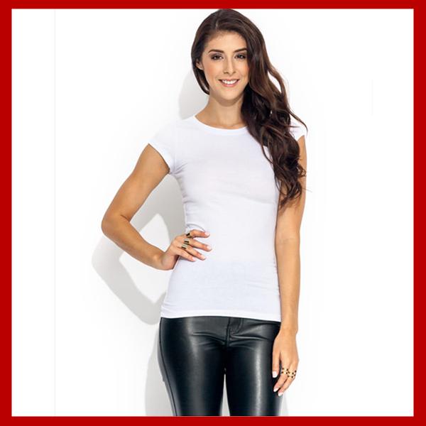 Basic Crewneck Tee White T Shirts Women - Buy White T Shirts Women ...
