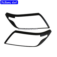 ABS Matte Black Head Light Cover For Navara NP300 2015 D23 PICKUP Accessories