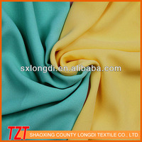 2015 China supplier stocklot uk ladies dress solid polyester chiffon fabric