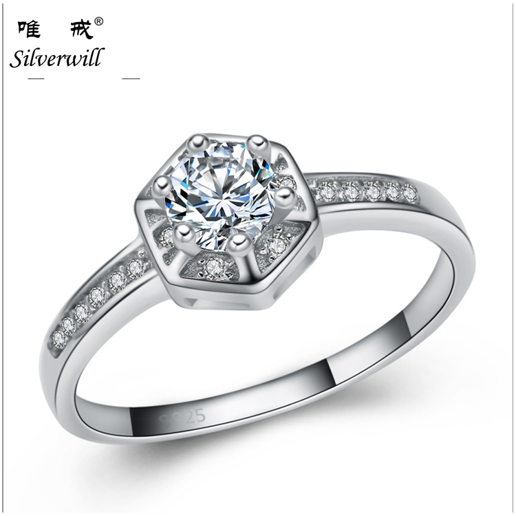 Factory direct sale 925 sterling silver new model fashion simple wedding ring designs