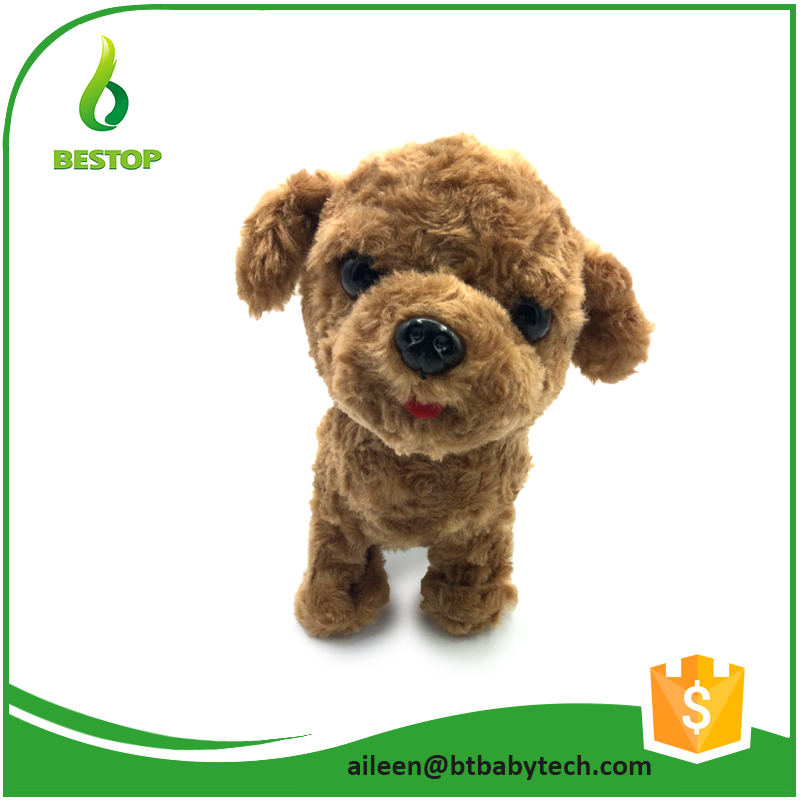 WK002 Brown color Electronics teddy plush toy / toy teddy bear puppies for sale