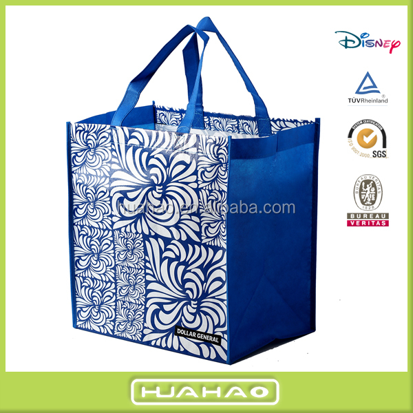 2016 fashion designer non woven laminated shopping bag