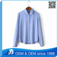 Ladies Fashion Loose Blue Corner Shirt