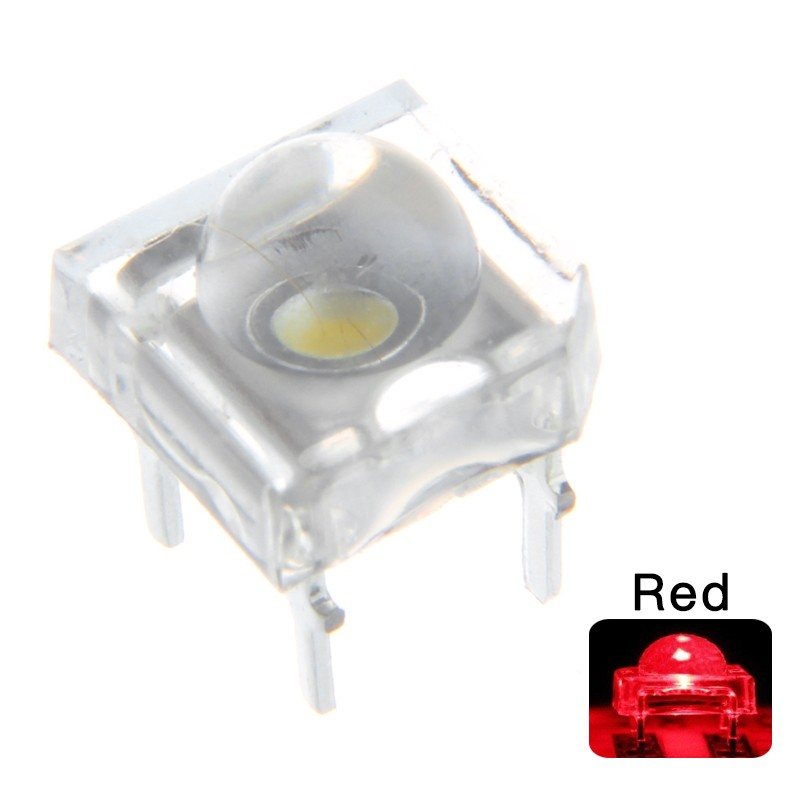 5mm LED Piranha Red Ultra Light Emitting Diode 4 Pin 7.62*7.62*5mm