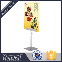 New arrival metal stainless steel poster sign holder