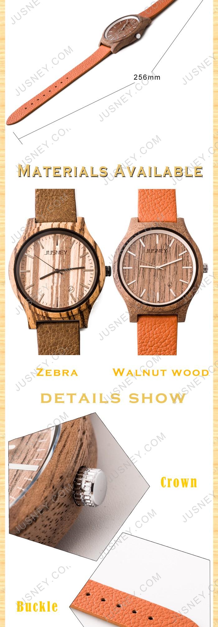 100% Healthy Hot Sale Handcrafted We Wood Original Grain Watches With Band Custom Logo Digital Design Your Own Wewood Watch