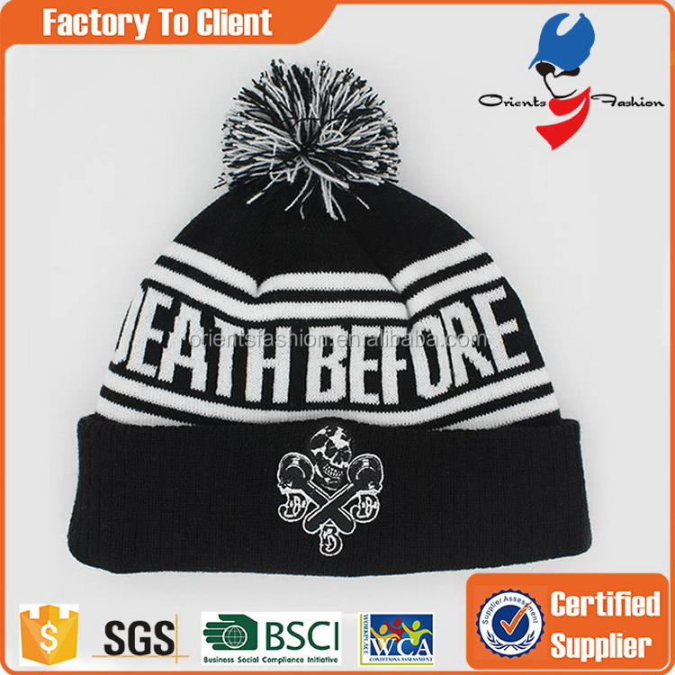 Excellent quality promotional blank wool ski beanie hat