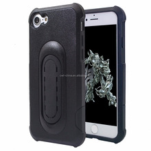 New arrival cellphone kickstand case for iphone 7 double layer case pc tpu