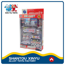 Alibaba express alloy diecast plastic ambulance small car toys and games for kids