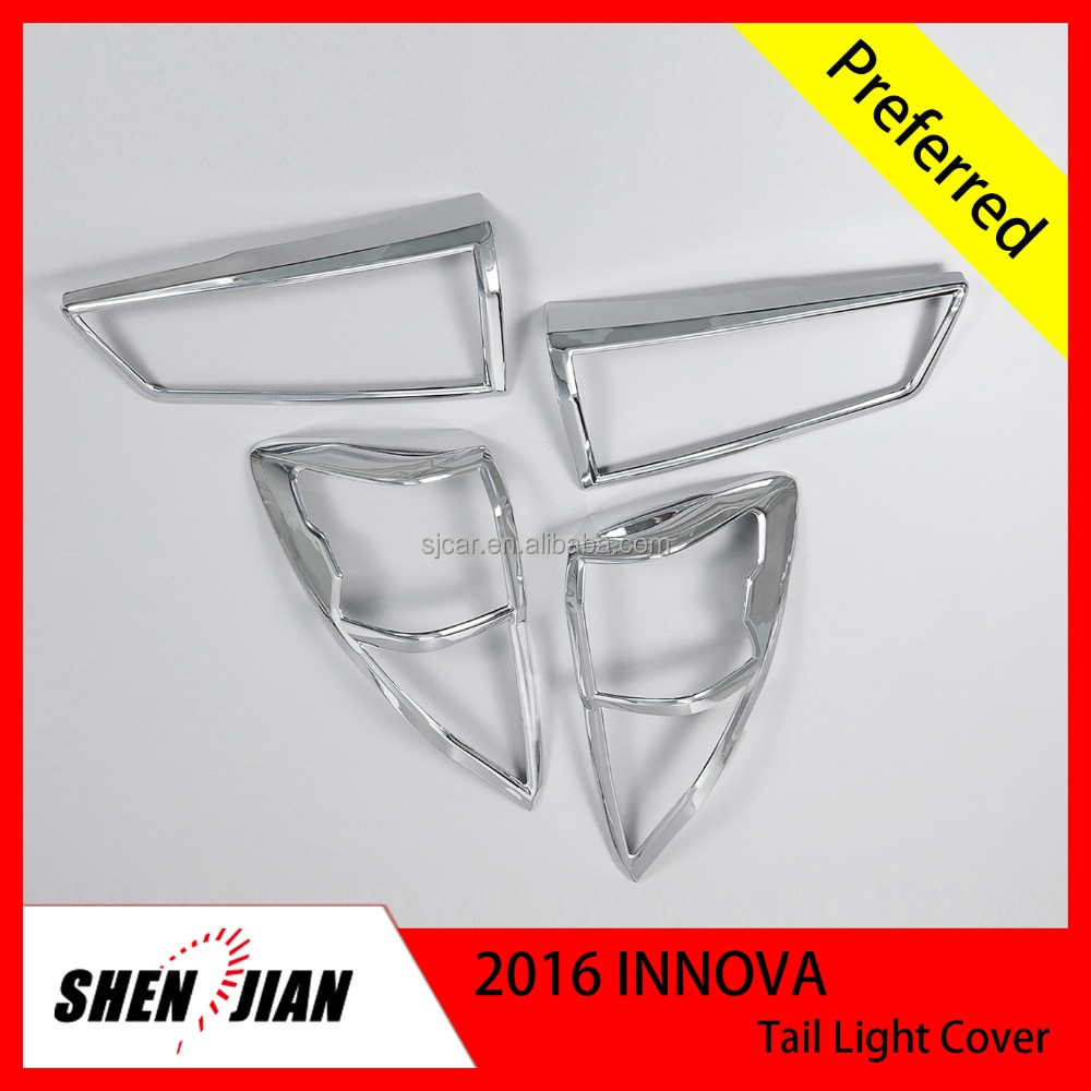 CAR EXTERIOR ACCESSORIES CHROMED for TOYOTA 2016 INNOVA TAIL LIGHT COVER CHROME Exterior Accessories