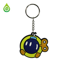 Personalized Cute Cartoon Boys Soft PVC Key Chain for hot selling