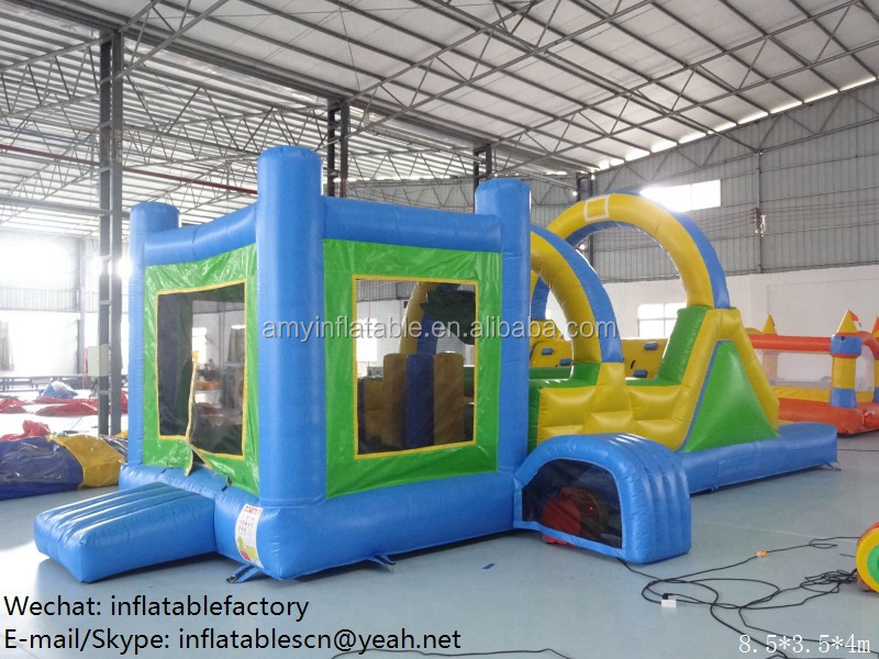 PK Best Price Indoor Amusement Sport Game Obstacle Course Inflatable Bounce House