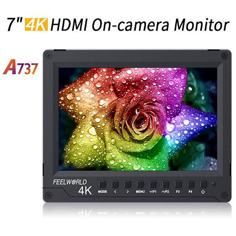 "Feelworld A737 7"" Full HD Video Display Support 4K Signal Histogram IPS Field Camera Monitor for DSLR"