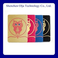 animal owl design fashion pu leather case for ipad mini stand