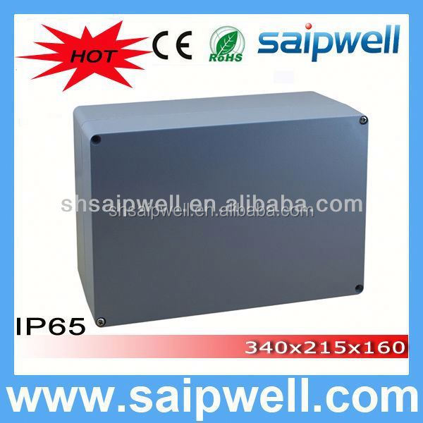 2014 High quality IP67 sealed aluminum waterproof enclosure 340*235*160MM(aluminum box serirs) WITH CE Approval