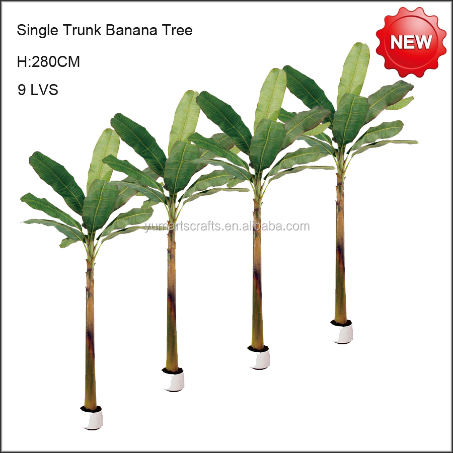 Single trunk artificial banana tree