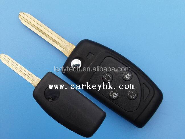 New model Toyota 3 buttons remote modified folding key blank cover shell wholesale