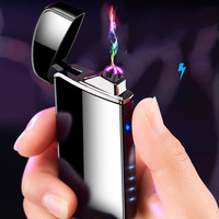 2019 china yanzhen factory customized fingerprint rechargeable touch usb arc cigarette lighter wholesale
