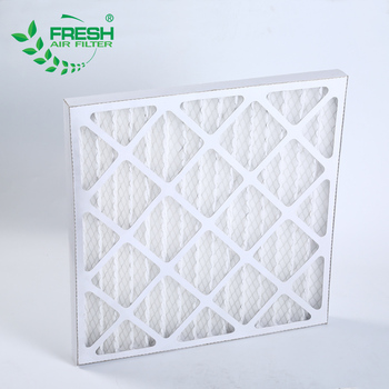 G2 G3 G4 F5 frame industrial cardboard air pre filter pleated panel air filter