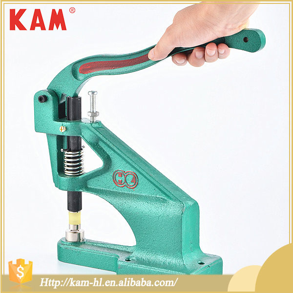 KAM fix hand press machines snap button machine for punch snaps