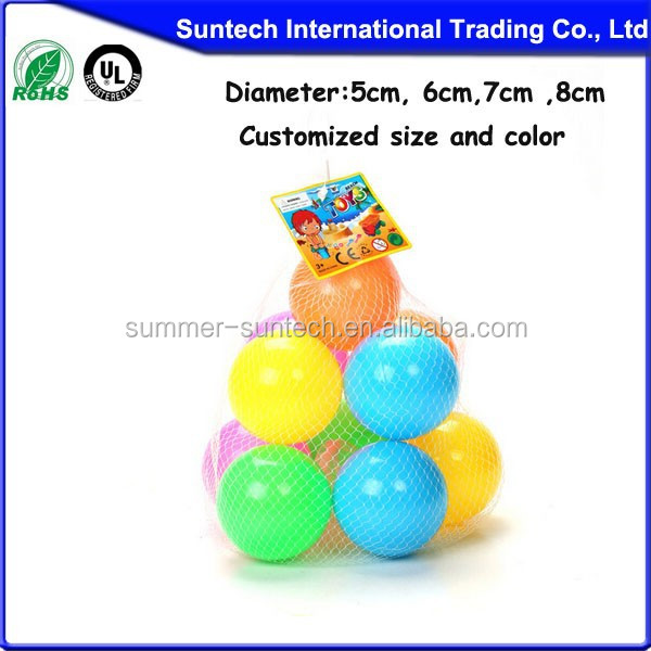 2015 hot-sale PVC Inflatable colorful small ocean balls for kids,stress ball