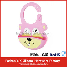 100% Food Grade Silicone Material And Anti-Bacterial,Washable Baby Bibs
