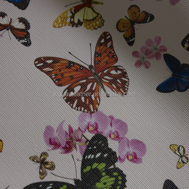 digital print pvc leather for bags/talbe mat synthetic leather