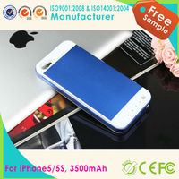 2015 Full 3500mAh External Power Pack Backup Battery Charger Case Cover For iPhone 5