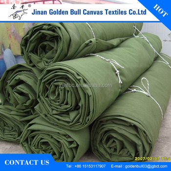 Waterproof 510gsm Polyester Canvas Tarpaulin Tent Truck Cover