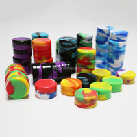 Factory price! customized 3ml small non stick silicone customized jars dab wax bho oil container