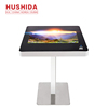 For coffee or restaurant customize interactive touch screen table multitouch table waterproof interactive touch table