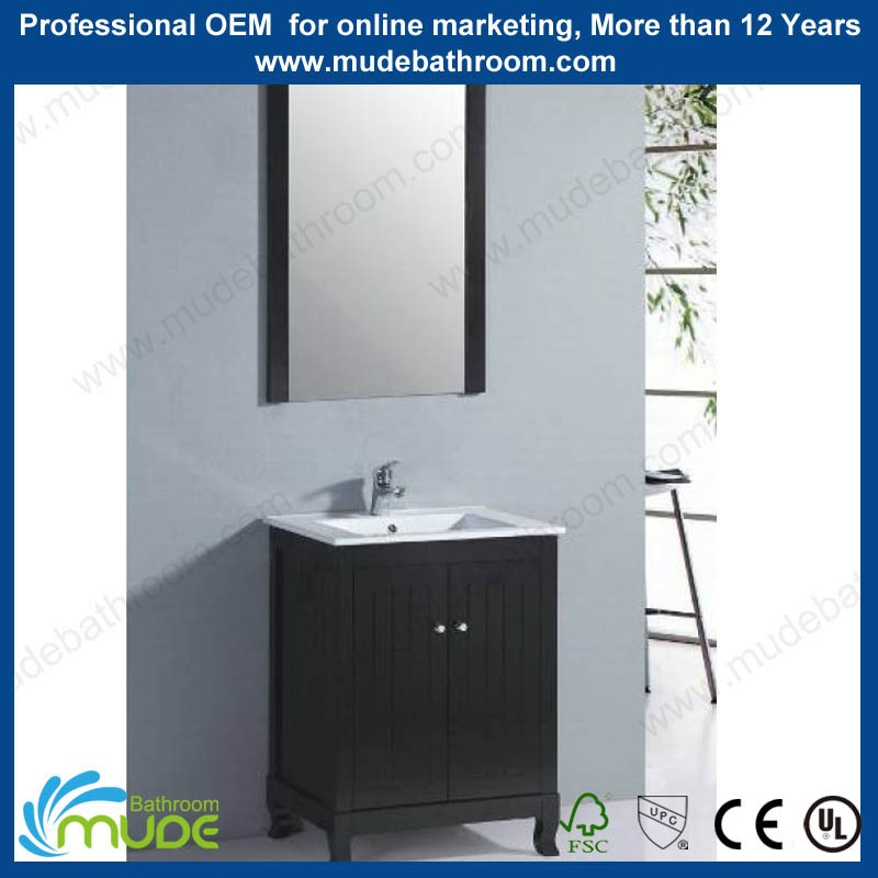 Lows style double sink wash basin vanity mirrored bathroom cabinet