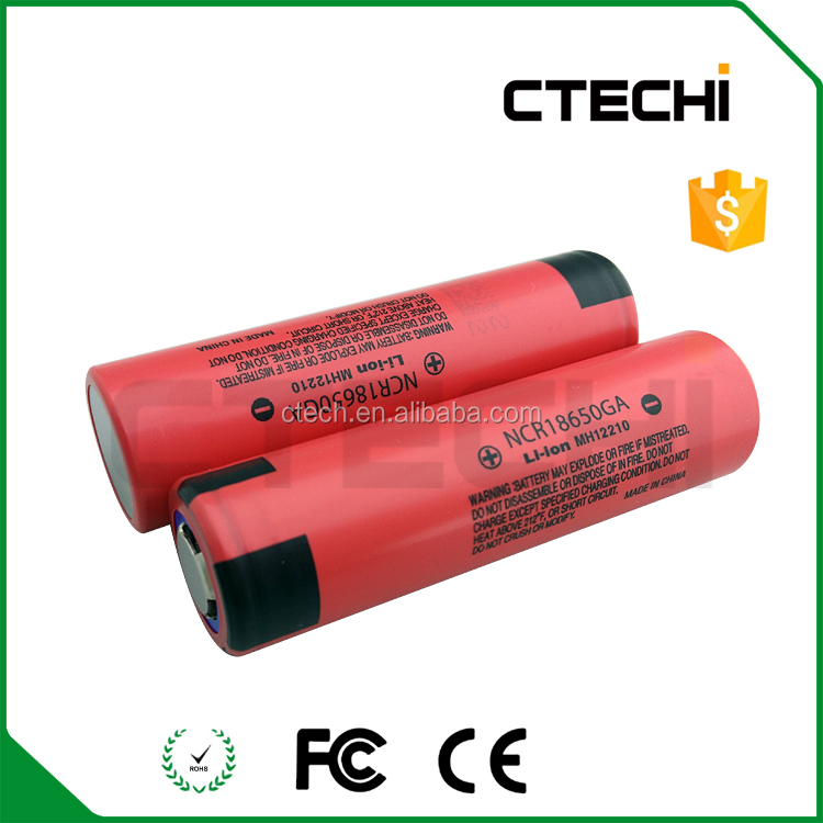 Original 18650 battery 3.7V 3500mah NCR18650GA li-ion battery cell with 10A discharge
